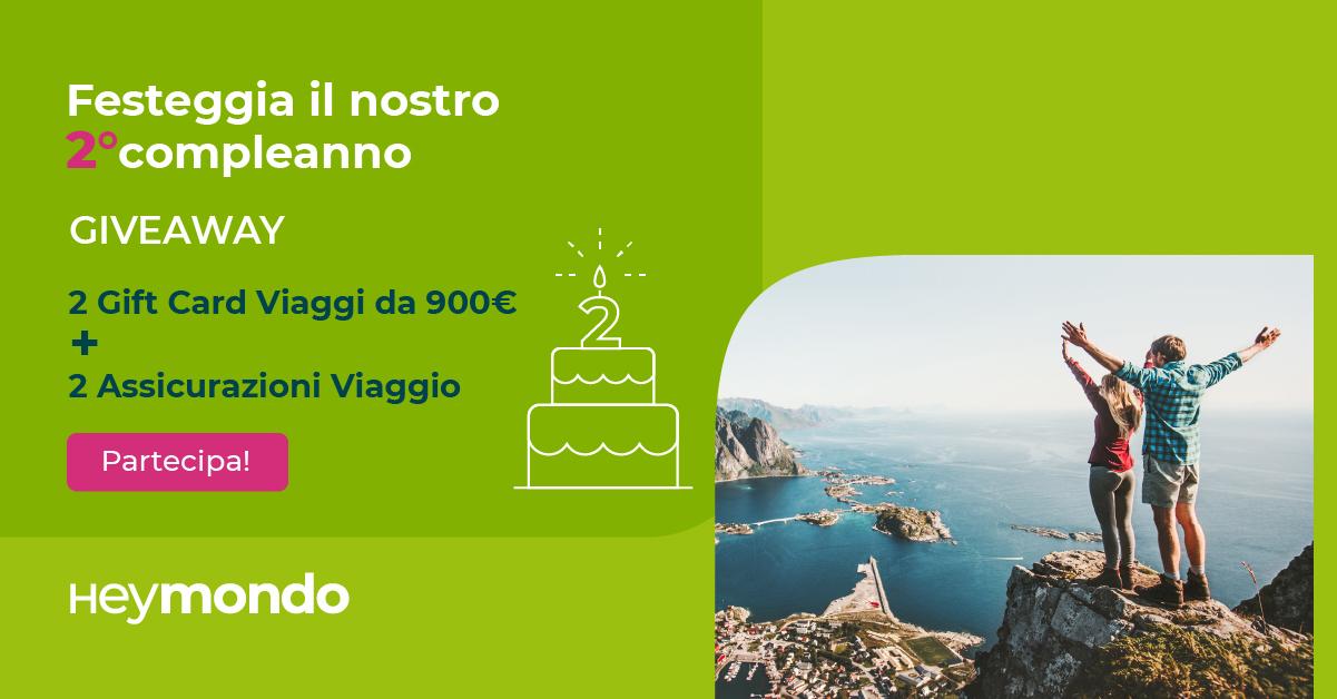 giveaway secondo aniversario heymondo italia